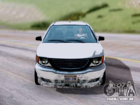 GTA V Minivan para GTA San Andreas vista direita