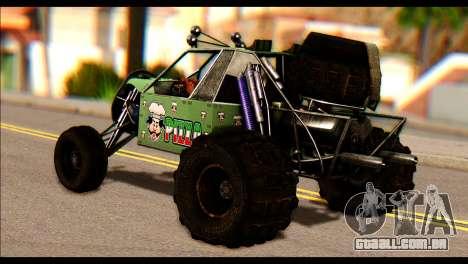 Buggy Fireball from Fireburst PJ para GTA San Andreas esquerda vista
