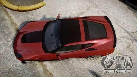 Chevrolet Corvette Z06 2015 TirePi2 para GTA 4 vista direita