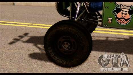 Buggy Fireball from Fireburst PJ para GTA San Andreas traseira esquerda vista