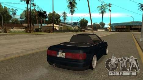 Audi 80 Cabrio para GTA San Andreas esquerda vista