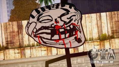 Skin de Meme Troll Golpiado para GTA San Andreas terceira tela