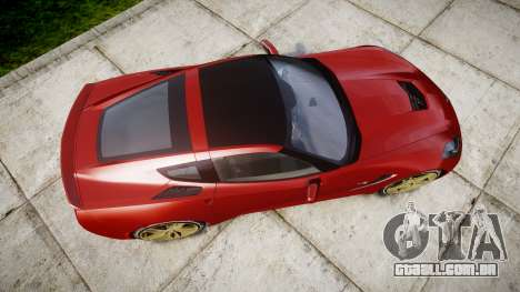 Chevrolet Corvette C7 Stingray 2014 v2.0 TireBFG para GTA 4 vista direita