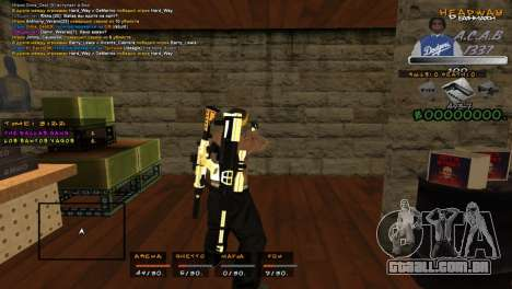 C- HUD A.C.A.B para GTA San Andreas segunda tela
