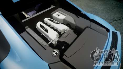 Audi R8 V10 Plus 2013 Vossen VVS CV3 para GTA 4 vista lateral