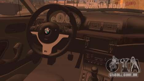 BMW M3 E46 Sedan para GTA San Andreas traseira esquerda vista