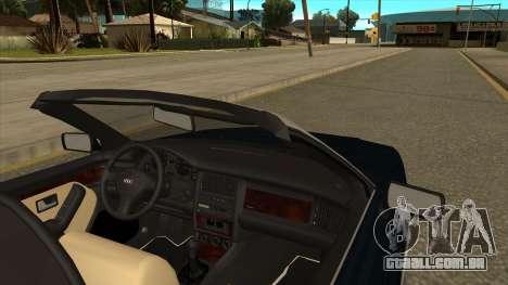 Audi 80 Cabrio para GTA San Andreas traseira esquerda vista