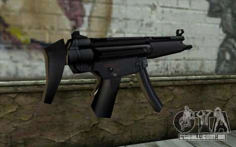 Retextured MP5 para GTA San Andreas segunda tela