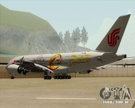Airbus A380-800 Air China para GTA San Andreas vista superior