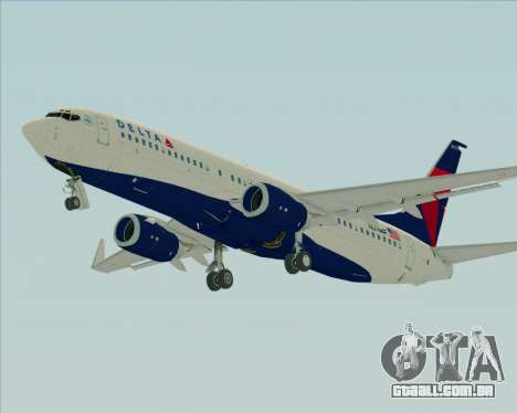 Boeing 737-800 Delta Airlines para GTA San Andreas vista inferior
