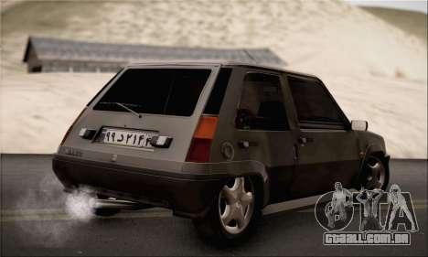 Renault 5 para GTA San Andreas esquerda vista