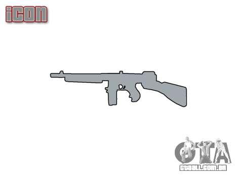 Submetralhadora Thompson M1A1 tambor icon1 para GTA 4 terceira tela