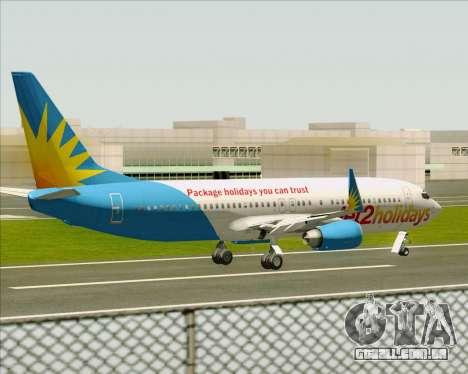 Boeing 737-800 Jet2Holidays para GTA San Andreas vista inferior
