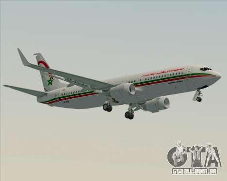 Boeing 737-8B6 Royal Air Maroc (RAM) para GTA San Andreas traseira esquerda vista