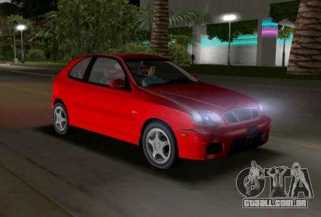 Daewoo Lanos Esporte EUA 2001 para GTA Vice City vista interior