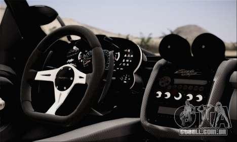 Pagani Zonda 760RS para GTA San Andreas traseira esquerda vista
