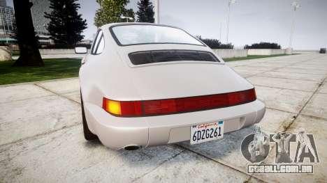 Porsche 911 (964) Coupe para GTA 4 traseira esquerda vista