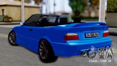 BMW M3 E36 Cabrio para GTA San Andreas esquerda vista