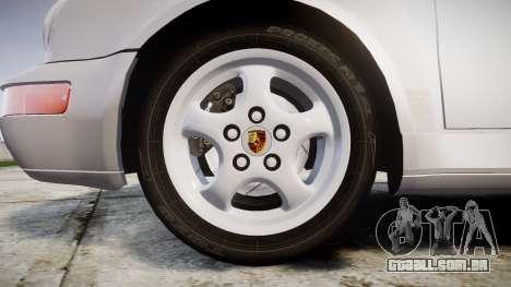 Porsche 911 (964) Coupe para GTA 4 vista de volta