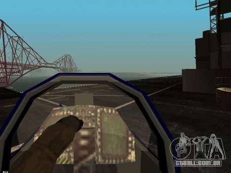 BlueAngels Hydra para GTA San Andreas vista interior