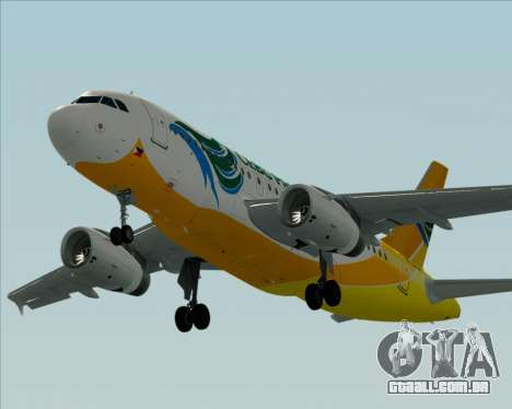 Airbus A319-100 Cebu Pacific Air para vista lateral GTA San Andreas