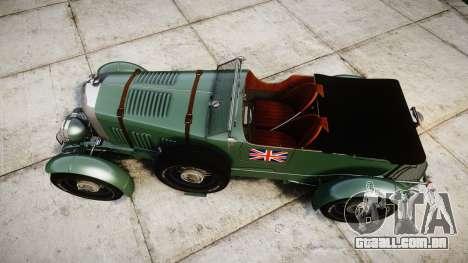 Bentley Blower 4.5 Litre Supercharged [low] para GTA 4 vista direita