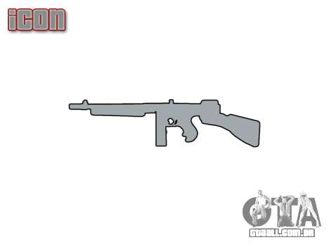 Submetralhadora Thompson M1A1 caixa de icon1 para GTA 4 terceira tela