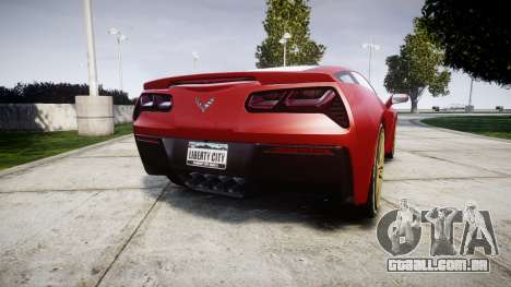 Chevrolet Corvette C7 Stingray 2014 v2.0 TireBFG para GTA 4 traseira esquerda vista