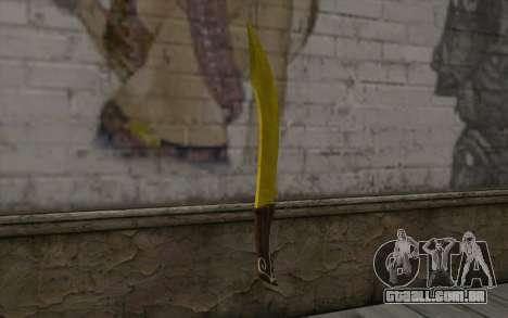 Ouro faca para GTA San Andreas segunda tela
