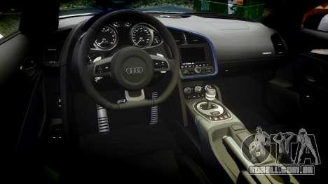 Audi R8 LMX 2015 [EPM] Sharpie para GTA 4 vista interior