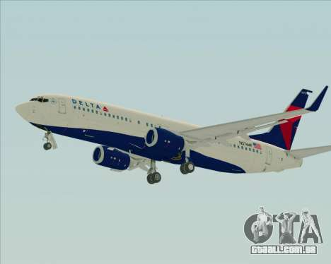 Boeing 737-800 Delta Airlines para GTA San Andreas traseira esquerda vista