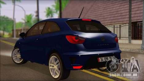 Seat Ibiza Cupra 2010 para GTA San Andreas esquerda vista