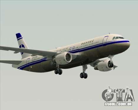 Airbus A320-200 CNAC-Zhejiang Airlines para GTA San Andreas vista direita