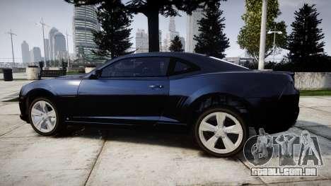 Chevrolet Camaro SS [ELS] Unmarked interceptors para GTA 4 esquerda vista