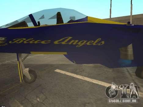 BlueAngels Hydra para GTA San Andreas vista traseira