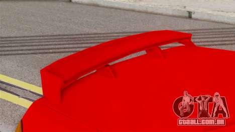 Honda CRX para GTA San Andreas traseira esquerda vista