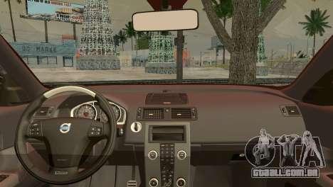 Volvo C30 Stanced para GTA San Andreas traseira esquerda vista