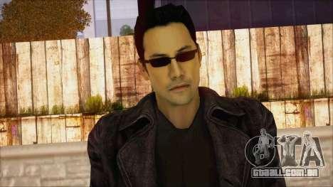 Neo Matrix Skin para GTA San Andreas terceira tela