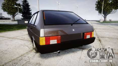 VAZ-2109 Nove para GTA 4 traseira esquerda vista