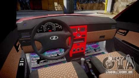 VAZ-2172 Dag estilo para GTA 4 vista de volta