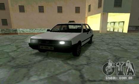 Tofas Sahin Taxi para GTA San Andreas vista traseira