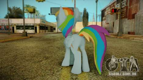 Rainbow Dash from My Little Pony para GTA San Andreas segunda tela