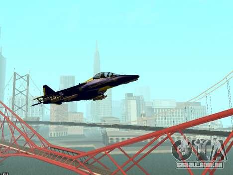 BlueAngels Hydra para GTA San Andreas esquerda vista