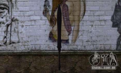 Unnamed Sword para GTA San Andreas segunda tela