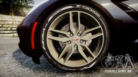 Chevrolet Corvette C7 Stingray 2014 v2.0 TireYA2 para GTA 4 vista de volta