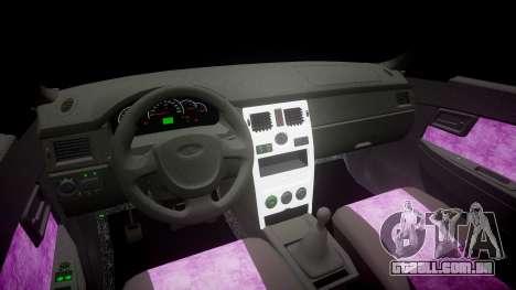 ВАЗ-2170 Instalado Prioresa Qualidade v2.0 para GTA 4 vista interior