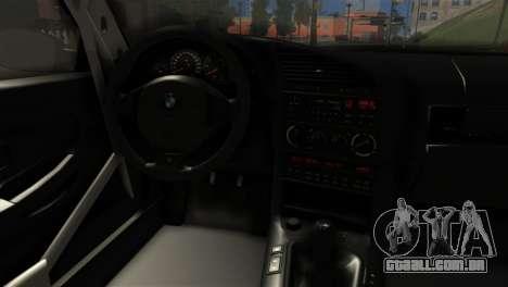BMW M3 E36 Bucale Drift para GTA San Andreas traseira esquerda vista
