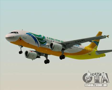 Airbus A320-200 Cebu Pacific Air para GTA San Andreas esquerda vista