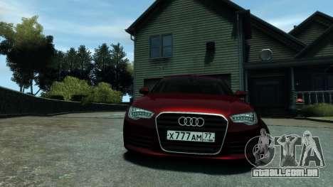 Audi A6 2012 para GTA 4 traseira esquerda vista