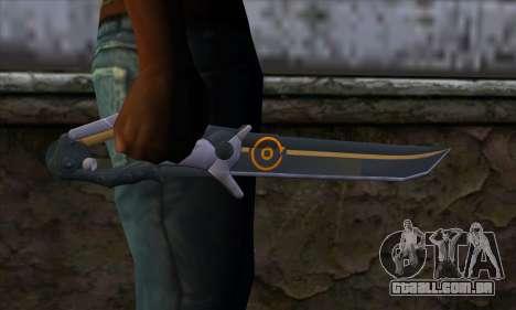 Olga Knife from Remember Me para GTA San Andreas terceira tela